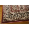 "Ararat Rectangle Rug By, Burgundy, 5'3"" X 7'4"""