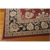 "Nourison Ararat Rectangle Rug  By Nourison, Burgundy, 5'3"" X 7'4"""
