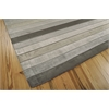 "Nourison Aura Rectangle Rug  By Nourison, Silver Shadow, 5'6"" X 7'5"""