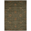 "Ki12 Ancient Times Rectangle Rug By, Teal, 7'9"" X 10'10"""