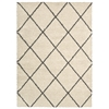 Nourison Brisbane Rectangle Rug  By Nourison, Ivory Charcoal, 5' X 7'