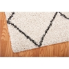 Brisbane Ivory/Charcoal Shag Area Rug