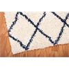 Brisbane Ivory/Blue Shag Area Rug