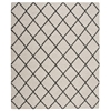 "Brisbane Rectangle Rug By, Ivory Charcoal, 8'2"" X 10'"