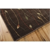 "Cambridge Rectangle Rug By, Chocolate, 5'3"" X 7'4"""
