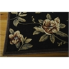 "Cambridge Rectangle Rug By, Black, 5'3"" X 7'5"""