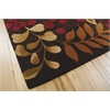 Nourison Contour Rectangle Rug  By Nourison, Chocolate, 5' X 7'6""