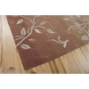 Nourison Contour Rectangle Rug  By Nourison, Cinnamon, 5' X 7'6""
