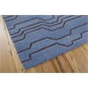Contour Rectangle Rug By, Azure, 5' X 7'6""