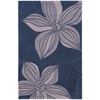 "Nourison Contour Rectangle Rug  By Nourison, Blue, 3'6"" X 5'6"""