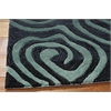 Nourison Contour Rectangle Rug  By Nourison, Smoke Teal, 5' X 7'6""
