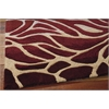 Contour Rectangle Rug By, Flame, 5' X 7'6""