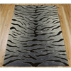Contour Rectangle Rug By, Black Grey, 5' X 7'6""