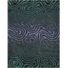 Contour Smoke Teal Area Rug