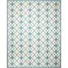 Decor Ivory Blue Area Rug