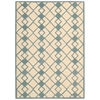 Decor Rectangle Rug By, Ivory Blue, 5' X 7'