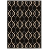 Decor Rectangle Rug By, Black, 5' X 7'