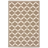 Decor Rectangle Rug By, Taupe White, 5' X 7'