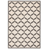 Decor Rectangle Rug By, White/Light Grey, 5' X 7'