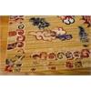 "Nourison Bbl16 Dynasty Rectangle Rug  By Nourison, Ochre, 7'9"" X 9'9"""