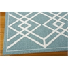 Nourison Enhance Rectangle Rug  By Nourison, Turquoise, 5' X 7'
