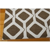 Nourison Enhance Rectangle Rug  By Nourison, Chocolate Blue, 5' X 7'