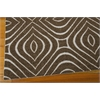 Nourison Enhance Rectangle Rug  By Nourison, Chocolate, 5' X 7'