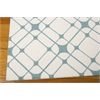 Nourison Enhance Rectangle Rug  By Nourison, Ivory Turquoise, 5' X 7'