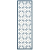 "Nourison Enhance Runner Rug  By Nourison, Blue, 2'6"" X 8'"