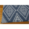 Enhance Rectangle Rug By, Blue, 5' X 7'