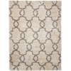 Escape White Shades Shag Area Rug