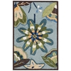 "Fantasy Rectangle Rug By, Aqua, 1'9"" X 2'9"""