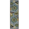 "Fantasy Runner Rug By, Aqua, 2'3"" X 8'"