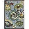 "Nourison Fantasy Rectangle Rug  By Nourison, Aqua, 3'6"" X 5'6"""