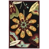 "Fantasy Rectangle Rug By, Black, 1'9"" X 2'9"""