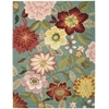 Nourison Fantasy Rectangle Rug  By Nourison, Aqua, 8' X 10'6""
