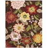 Nourison Fantasy Rectangle Rug  By Nourison, Chocolate, 8' X 10'6""