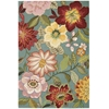 Fantasy Rectangle Rug By, Aqua, 5' X 7'6""