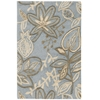 "Fantasy Rectangle Rug By, Light Blue, 1'9"" X 2'9"""