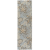 "Fantasy Runner Rug By, Light Blue, 2'3"" X 8'"