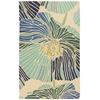 "Fantasy Rectangle Rug By, Ivory Aqua, 1'9"" X 2'9"""