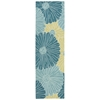 "Fantasy Runner Rug By, Seafoam, 2'3"" X 8'"