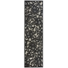 """Nourison Graphic Illusions Runner Rug  By Nourison, Pewter, 2'3"""" X 8'"""