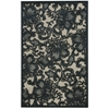 "Nourison Graphic Illusions Rectangle Rug  By Nourison, Pewter, 3'6"" X 5'6"""