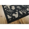 "Nourison Graphic Illusions Rectangle Rug  By Nourison, Pewter, 5'3"" X 7'5"""