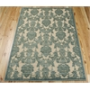 "Nourison Graphic Illusions Rectangle Rug  By Nourison, Teal, 5'3"" X 7'5"""