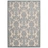 "Nourison Graphic Illusions Rectangle Rug  By Nourison, Ivory/Light Blue, 5'3"" X 7'5"""
