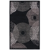 "Graphic Illusions Rectangle Rug By, Black, 3'6"" X 5'6"""