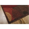 "Graphic Illusions Rectangle Rug By, Brown, 5'3"" X 7'5"""