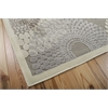 "Graphic Illusions Rectangle Rug By, Grey, 5'3"" X 7'5"""